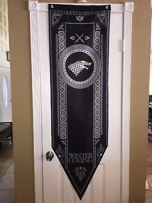 Game of Thrones XL Tournament Banner Flag House Stark 5-2 SHIPS IN ONE DAY