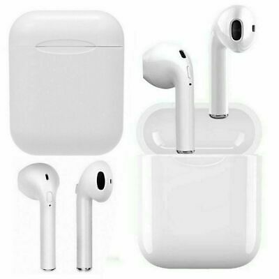 Premium Airpods Style Bluetooth Wireless Earbuds w Charging Case Headphones
