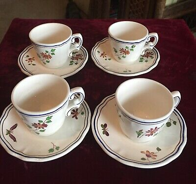 Moustiers Longchamp Demitasse Cup And Saucer 4