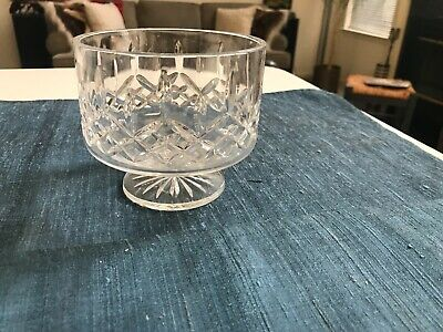 SUPERB 5 Waterford LISMORE SIMPLICITY CUT CRYSTAL FOOTED BOWL All Purpose EXLNT