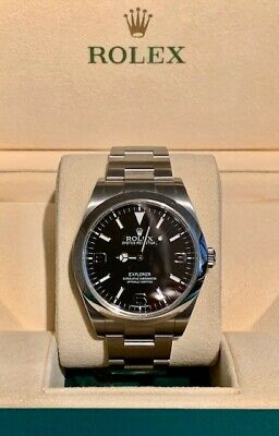 ROLEX EXPLORER Ref- 214270 C-Series BOX AND PAPERS EXCELLENT CONDITION
