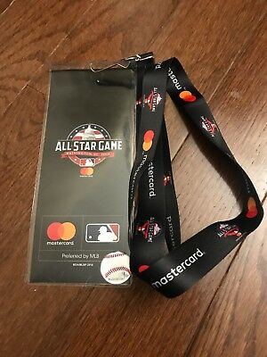 2018 MLB All Star Game SGA Ticket Holder Lanyard Baseball Mastercard