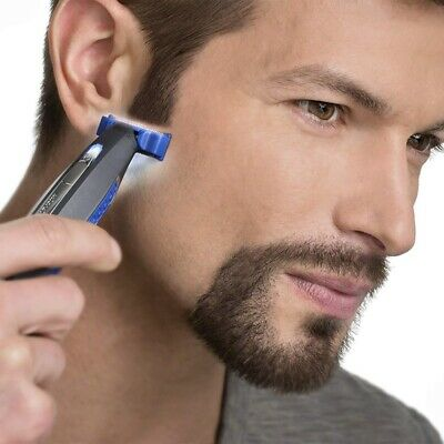 Mens Professional SOLO USB Rechargeable Trimmer Razor Smart Shaver W3 Combs US