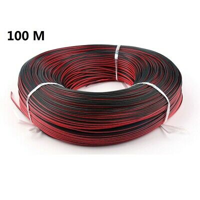 100m 2Pin Extension Cable Electric Wire Cable Red Black ConnectorLed Strip light