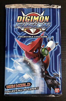 1x Bandai Digimon Fusion New World CCG Booster Pack SEALED 2013