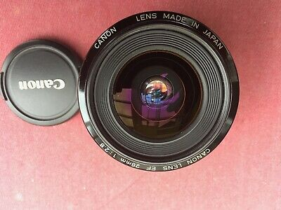 Canon Lens EF 28mm  1:2.8  EOS ultra wide angle prime lens