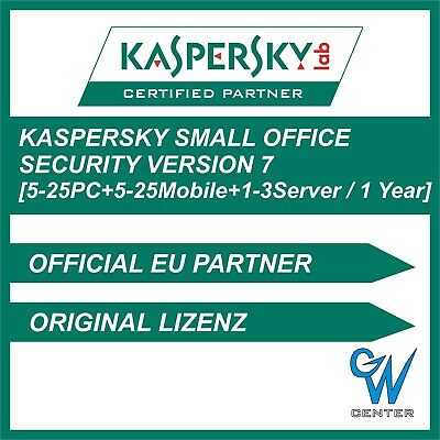 Kaspersky Small Office Security 7 5PC 10PC 15PC 20PC 25PC - 1-3 Server 1-2 Jahre
