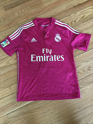 ADIDAS JAMES 10 REAL MADRID FLY EMIRATES PINK SOCCER JERSEY MENS S