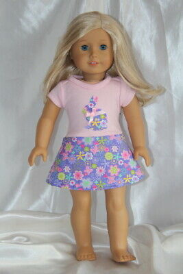 Doll Clothes fits 18inch American Girl Doll Dress Bunny Easter