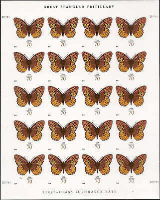 US 4859a Great Spangled Fritillary 70c imperf NDC sheet MNH 2014