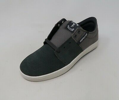Supra Men Shoes Charcoal White Stacks Sneakers 2800