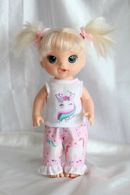 Dress Outfit fits 12inch Baby Alive Doll Clothes Unicorn Hearts