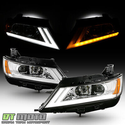 2014-2019 Chevy Impala LED DRL SWITCHBACK Chrome Projector Headlights Headlamps