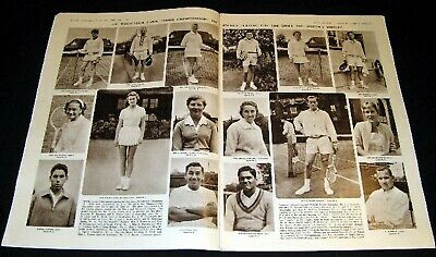 TENNIS 1961 WIMBLEDON TOP SEEDED PLAYERS PICTORIAL ROD LAVER ANGELA MORTIMER