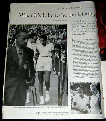 ALTHEA GIBSON 1958 WHAT ITS LIKE TO BE WIMBLEDON TENNIS CHAMPION PICTORIAL