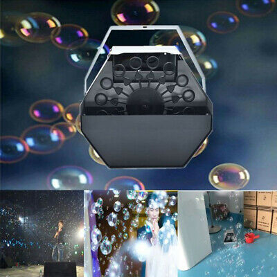 Bubble Machine Maker Blower 16 Wand Mini DJ STAGE HOME PARTY Blowing