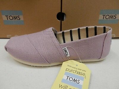 TOMS WOMENS SHOES CLASSIC SOFT LILAC HERITAGE CANVAS SIZE 6-5
