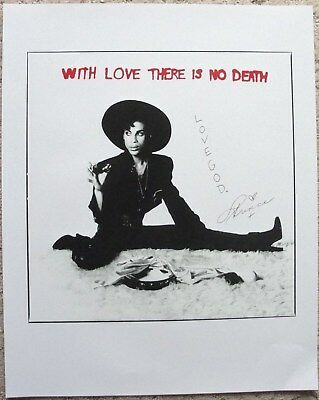 Prince poster With Love There Is No Death 16x20