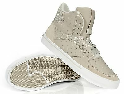 Supra Mens Skate Shoes Vaider 3000 Light Grey - White S30003 Medium D M