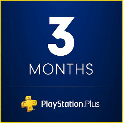 3 Months PlayStation PS Plus PS4-PS3 -Vita  NO CODE