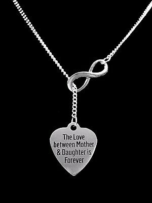 Mother Daughter Necklace The Love Between Is Forever Lariat Mothers Day Jewelry