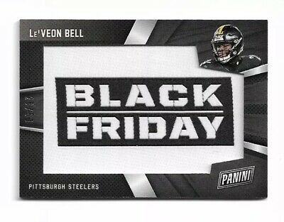 2018 Panini BLACK FRIDAY SSP LEVEON BELL PATCH 2650 JERSEY NUMBER  11 JETS