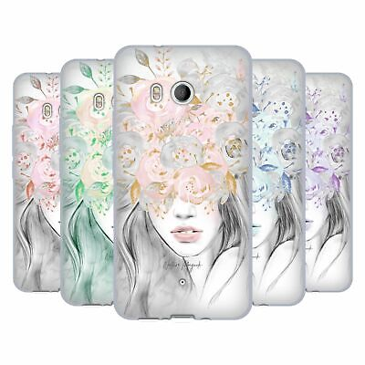 OFFICIAL NATURE MAGICK GIRL WITH FLOWERS IN HER HAIR GEL CASE FOR HTC PHONES 1