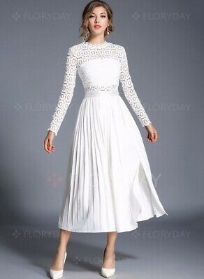 Kate Middleton Inspired Long Sleeve Crochet Midi Dress Runs Small See Sizing