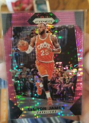 2017-18 Prizm Pink Pulsar 42 LeBron James Cavaliers Lakers Sharp