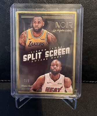 2018-19 Noir LeBron James Dwyane Wade Split Screen FOTL Gold Frame 79