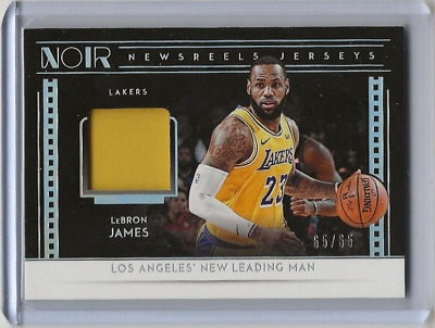 2018-19 Noir Lebron James Newsreels Jersey 6565 GAME WORN