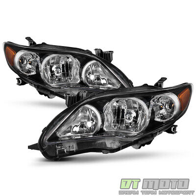 For 2011 2012 2013 Toyota Corolla Black Headlights lamps Aftermarket Left-Right
