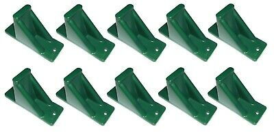 Green Plastic Mini Roof Snow and Ice Guard-10 PACK  Stop Sliding Snow Buildup