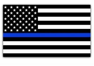 Blue Lives Matter Police USA American Thin Line Flag 5x 3 Car Decal Sticker