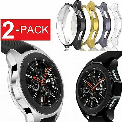 2 Pack Soft TPU Protector Watch Case Cover For Samsung Galaxy Watch 42mm 46mm