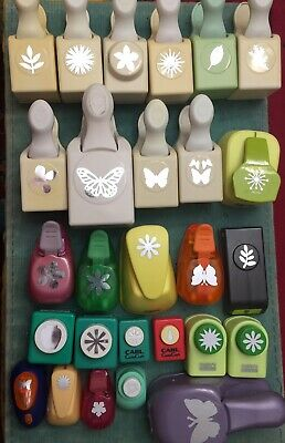 Martha Stewart punch 10 Lot Of 27 Plant And Butterfly Punches