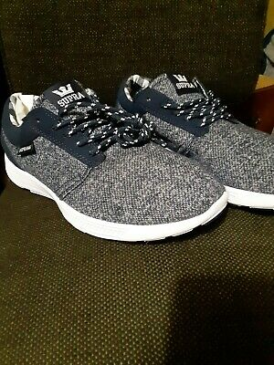 Supra Mens Knit Shoes Size 9-5 Navy Blue White