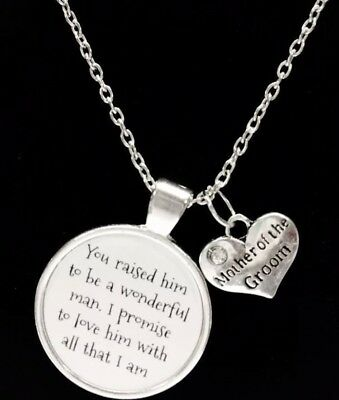 Mother Of The Groom Necklace Wedding Bridal Gift Mothers Day Jewelry