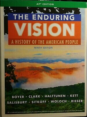 The Enduring Vision History of the American People AP Euro European 9th Ninth Ed