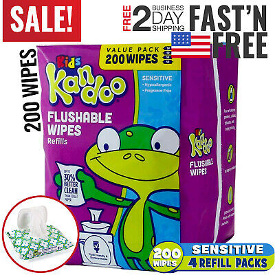 Flushable Wipes Baby Wet Toilet Septic Adults Fresh Care Organic Hypoallergenic