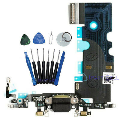 OEM Charging Port Dock Flex Cable Replacement for Apple iPhone 8 4-7 Black Tool