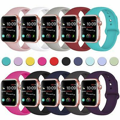 Sport Silicone Watch Band Strap for Apple Watch iWatch Series 4 3 40mm 44mm 42mm