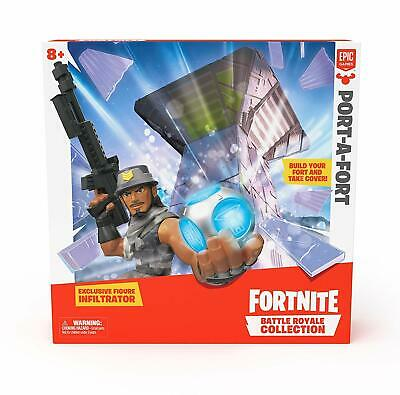 New Fortnite Battle Royale Collection Port-A-Fort wExclusive Infiltrator Figure