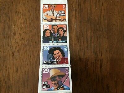US 2775-2778 COUNTRY - WESTERN booklet pane of 4 MNH