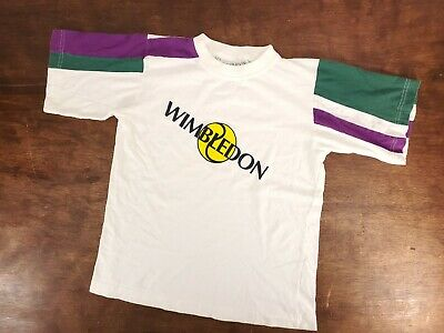 Vtg Youth Large Wimbledon Kent - Curwen Tennis T Shirt