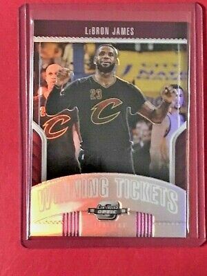LeBron James 2018-19 Panini Optic Contenders Winning Tickets Silver PRizm SP
