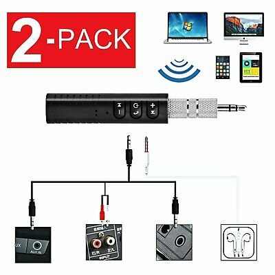 Bluetooth V4-2 Transmitter Receiver Wireless A2DP Audio Music 3-5mm Aux Adapter