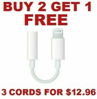 For Apple iPhone Headphone Adapter Jack Lightning to 3-5mm Cord Dongle