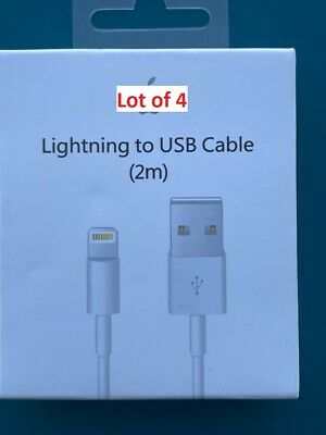 2M6ft Pack of 4 OR 8 Genuine OEM Iphone chager Cable 5-6-7-8-X-11-12ipad