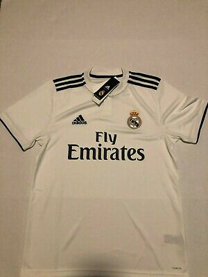 Real Madrid Home Jersey Adidas  NWT White Size Large Climalite